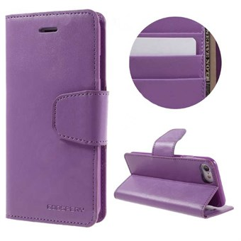 Image of   iphone 7/8 Goospery] SONATA DIARY CASE Wallet Card - Lilla / under updatering